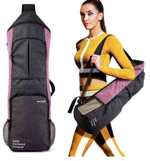 warrior2 yoga mat gym bag carrier holder backpack purple sporty girl