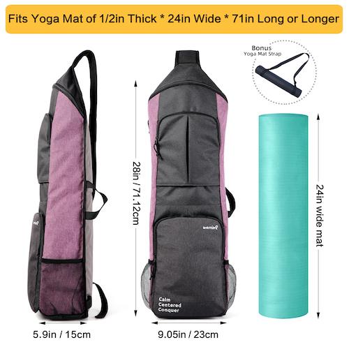 yoga mat bag size guide warrior2 yoga bag purple mat strap